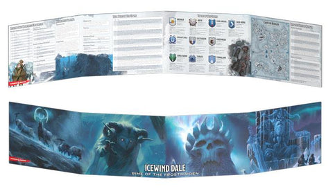 D&D DM Screen- Icewind Dale Rime of the Frostmaiden