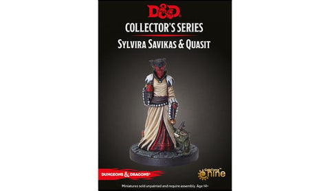 Sylvira Savikas & Quasit - Descent into Avernus  - D&D Collector Miniature: www.mightylancergames.co.uk