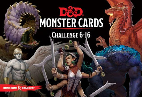 D&D Monster Cards - Challange 6-16: www.mightylancergames.co.uk