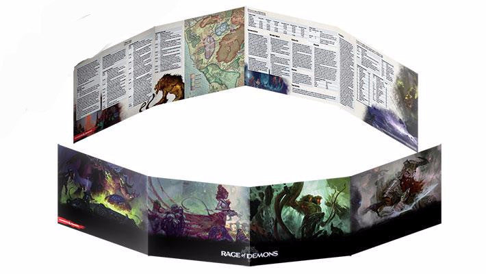 Rage of Demons - DM Screen (Dungeons & Dragons 5th Edition): www.mightylancergames.co.uk