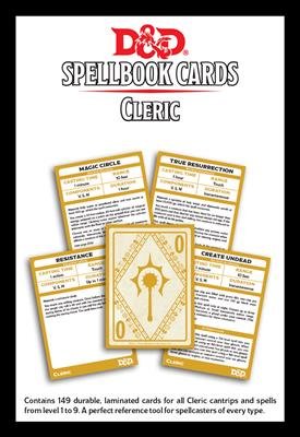 Spellbook Cards Cleric (D&D 5th Edition)