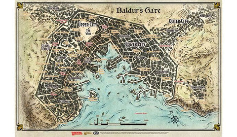 """Baldur's Gate"" - Map (23' x 17') - 72792"
