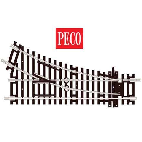 PECO - 2nd Radius, Right Hand Turnout- ST240 -OO/HO Gauge