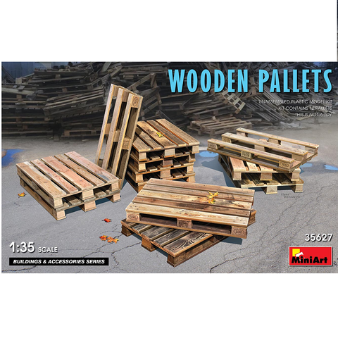 WOODEN PALLETS - 1:35- MiniArt - 35627