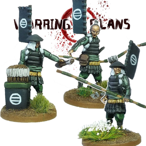 Ashigaru with Yumi (3)- SAM105 - Warring Clans
