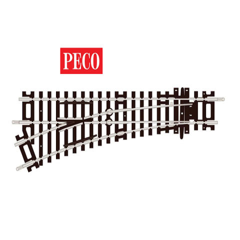 PECO - 2nd Radius, Left Hand Turnout- ST241 -OO/HO Gauge