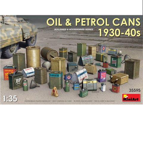 OIL & PETROL CANS 1930-40s - 1:35- MiniArt - 35595