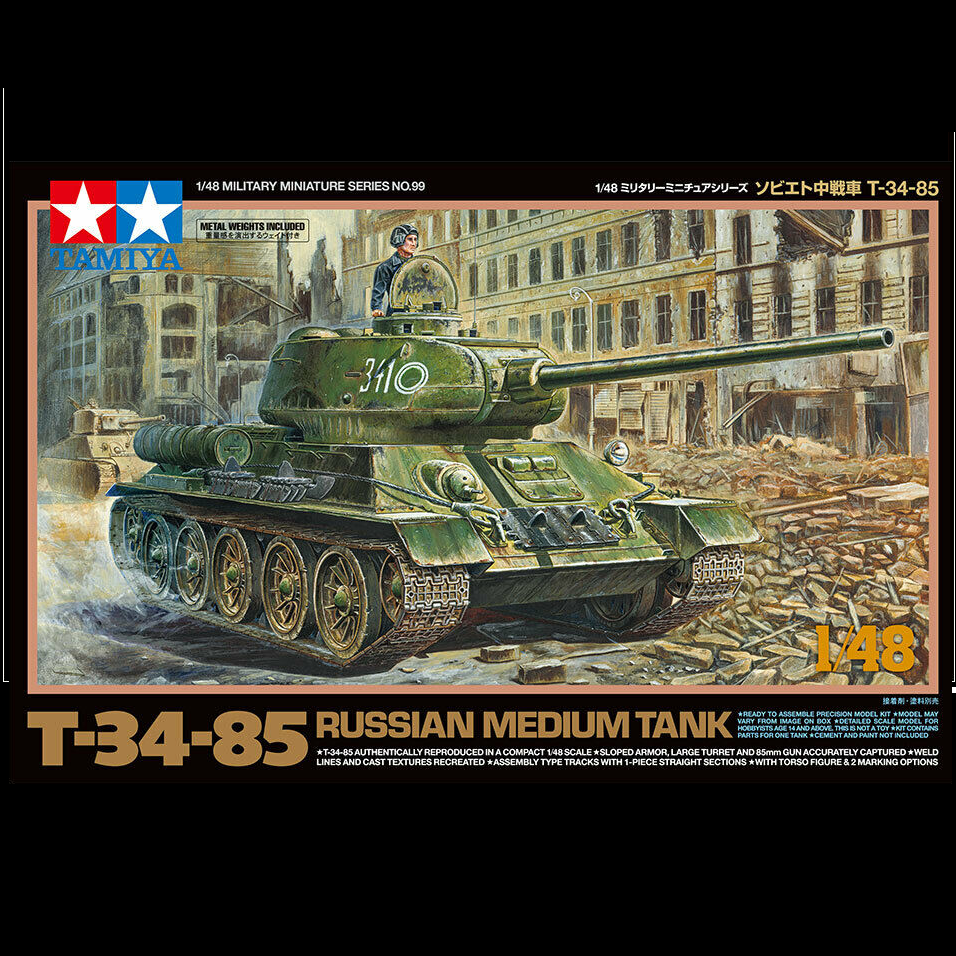 T 34 85 Russian Medium Tank - 1/48- Tamiya