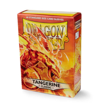 DRAGON SHIELD CLASSIC - TANGERINE - 60 Standard Size Card Sleeves