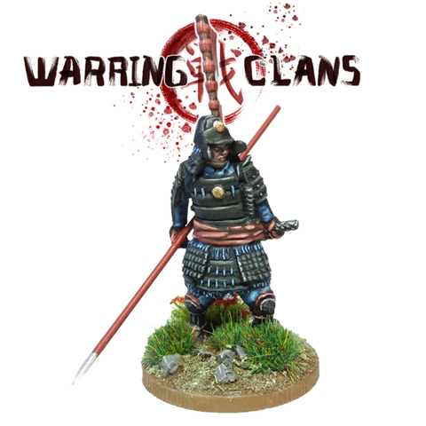 Samurai in full armour with Yari - SAM007 - Warring Clans