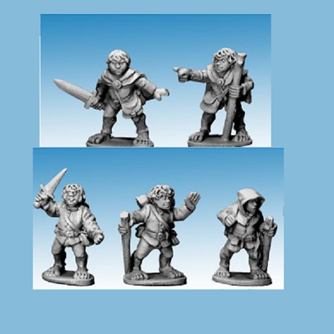 Halfling Adventurers - Copplestone Castings - HF02