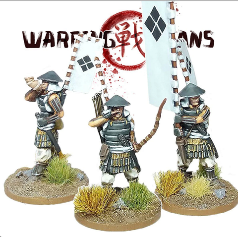Ashigaru with Yumi (bow) Command - SAM001 - Warring Clans