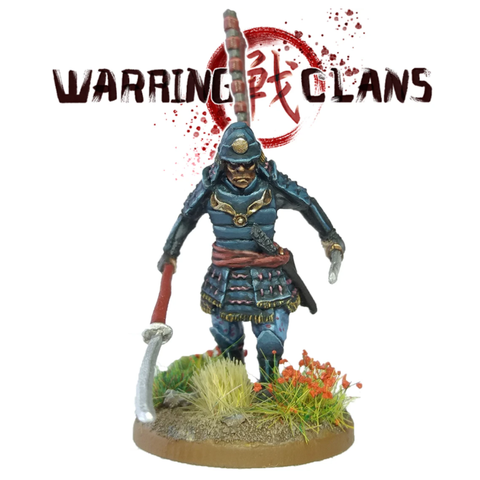 Samurai with Naginata and Katana- SAM013 - Warring Clans