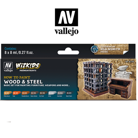 Wood & Steel - Vallejo Wizkids Paint Set - 80-256