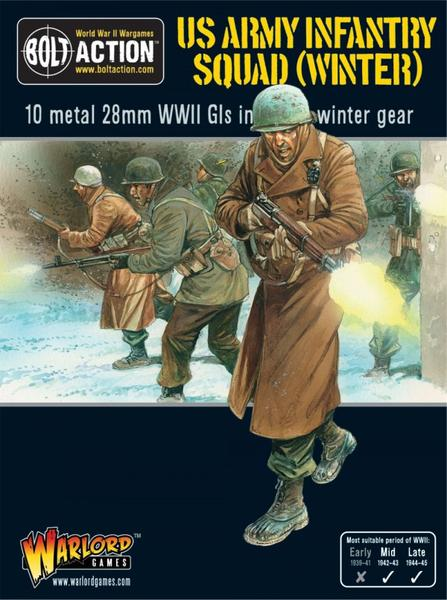 Bolt Action: US Army Infantry Squad (Winter) (10 miniatures)
