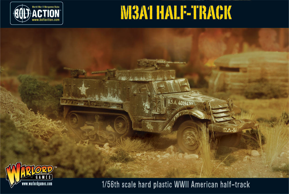 M3A1 Half-track - USA (Bolt Action) :www.mightylancergames.co.uk