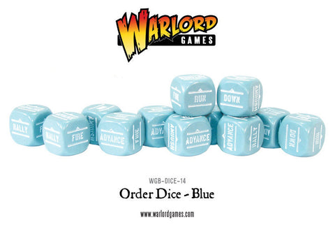Bolt Action Orders Dice - Blue