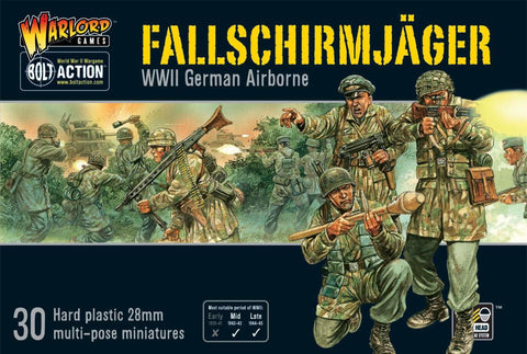 German Fallschirmjager (Bolt Action Plastic Box) :www.mightylancergames.co.uk