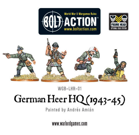 German Heer Army HQ (1943-45) - Bolt Action :www.mightylancergames.co.uk