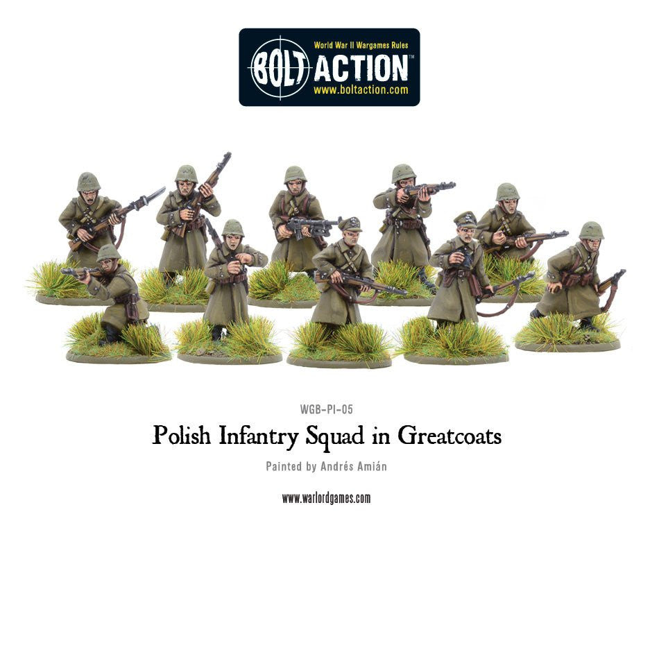 Polish Infantry Squad in Greatcoats - Poland (Bolt Action)