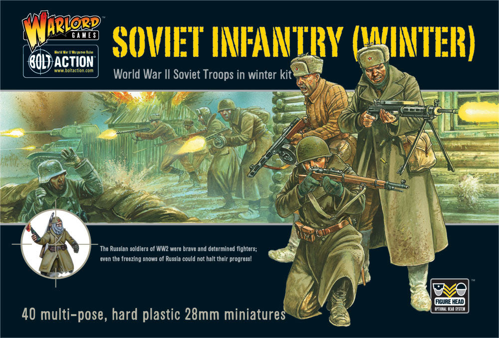 Soviet Infantry (Winter) WWII - Bolt Action :www.mightylancergames.co.uk