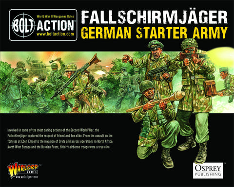 German Fallschirmjager - Starter Army (Bolt Action) :www.mightylancergames.co.uk