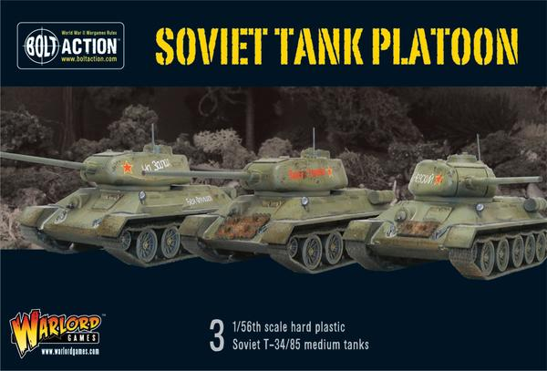 Bolt Action: Soviet tank platoon - T34/85
