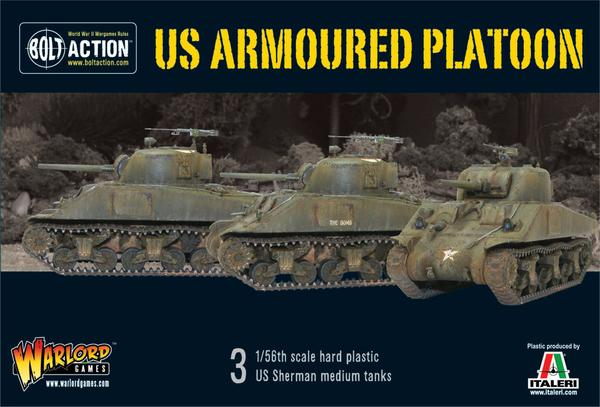 Bolt Action: US armoured platoon (3 vehicles)