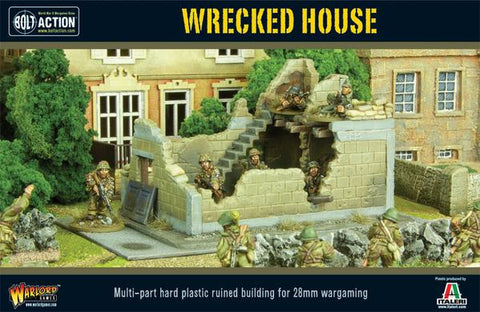 Wrecked House - Bolt Action :www.mightylancergames.co.uk