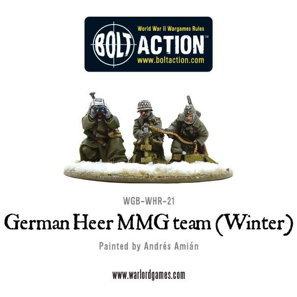 Bolt Action: German Heer MMG team (Winter)