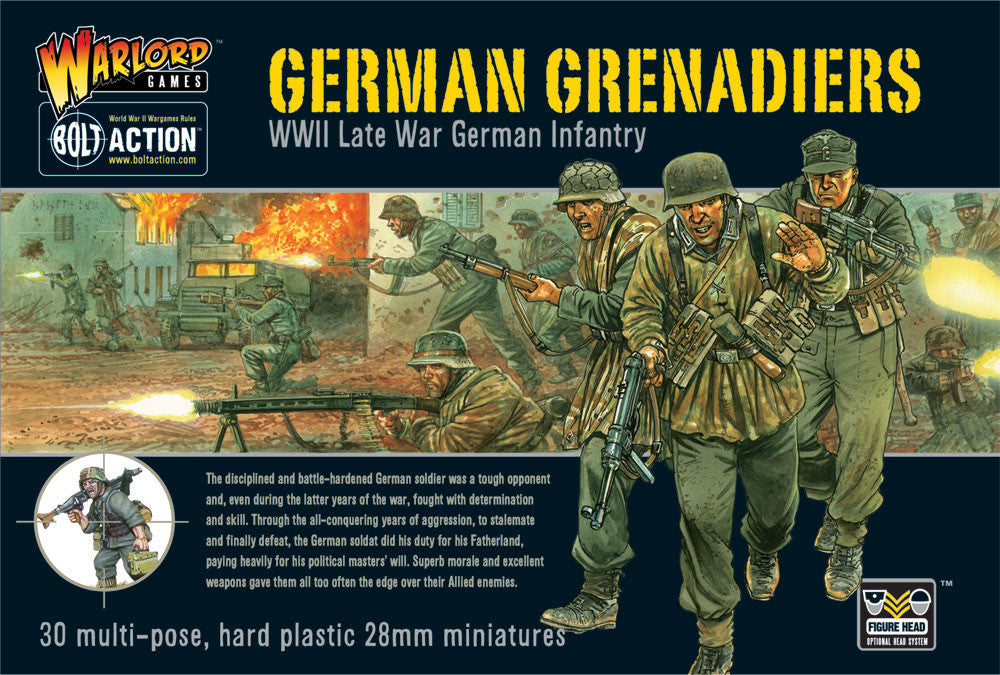 German Grenadiers WWII Late War Infantry - Bolt Action