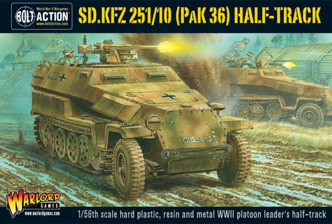 Bolt Action: German SD.KFZ 251/10 HALF-TRACK (3.7CM PAK) PLASTIC BOXED SET