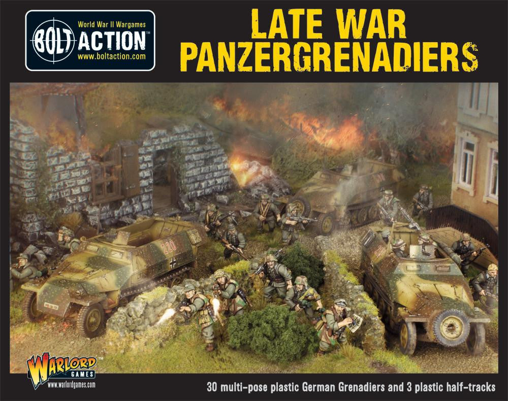 Bolt Action: German LATE WAR PANZERGRENADIERS (30 infantry + 3 Hanomags)