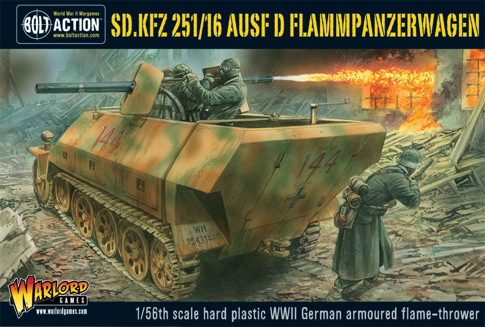 Bolt Action: German SD.KFZ 251/16 FLAMMPANZERWAGEN PLASTIC BOX SET