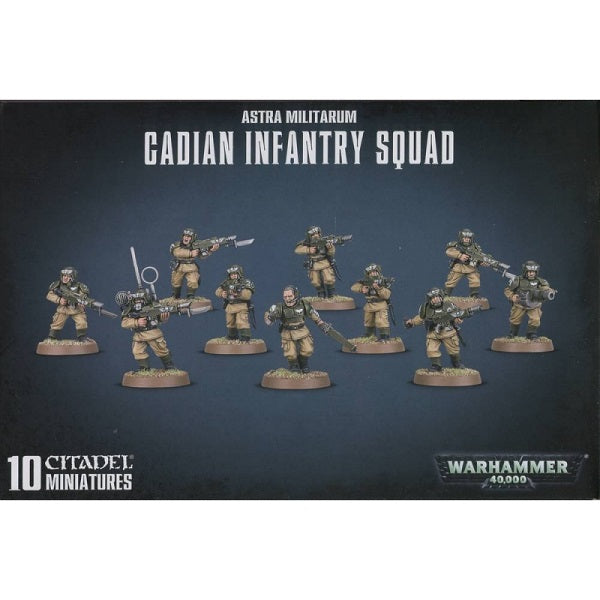 Cadian Infantry Squad - Astra Militarum: www.mightylancergames.co.uk