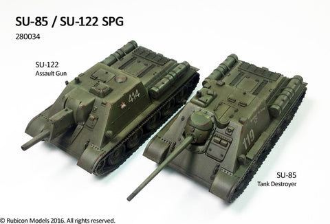 Soviet SU-85 / SU-122 SPG (Rubicon Models) :www.mightylancergames.co.uk