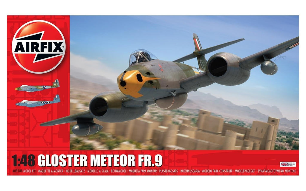 Airfix 1/48 - Gloster Metor FR.9: www.mightylancergames.co.uk