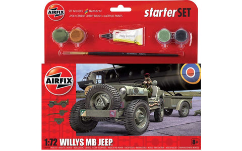 Airfix 1:72 - Willys MB Jeep Starter Set (A55117)