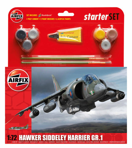 Airfix 1:72 - Hawker Harrier GR.1 Starter Set (A55205)