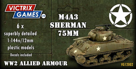 Sherman M4A3 75mm (Victrix 12mm/1:144 Tanks)