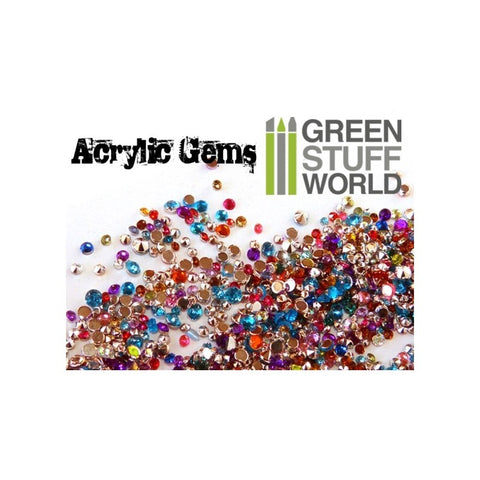 Micro Acrylic Gems - 1mm to 2.5mm -1033- Green Stuff World