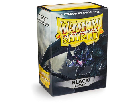 Dragon Shield Classic Black – 100 Standard Size Card Sleeves: www.mightylancergames.co.uk