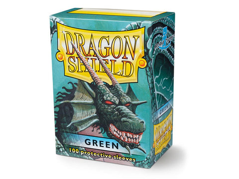 Dragon Shield Classic Green  – 100 Standard Size Card Sleeves: www.mightylancergames.co.uk