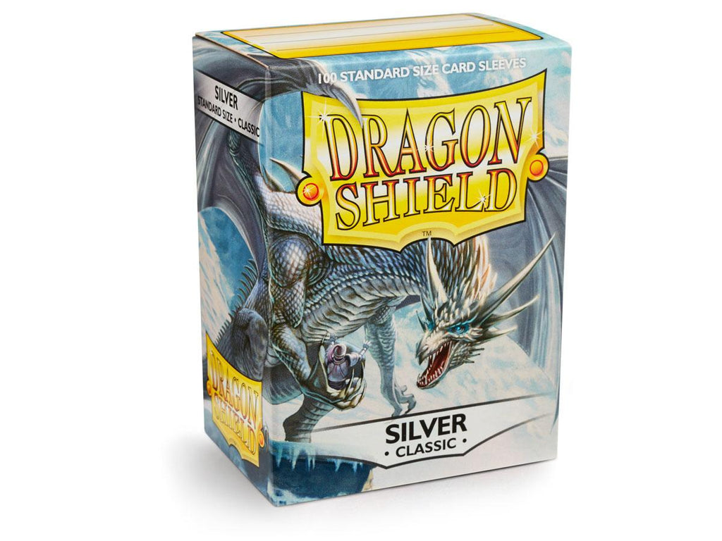 Dragon Shield Classic Silver – 100 Standard Size Card Sleeves: www.mightylancergames.co.uk