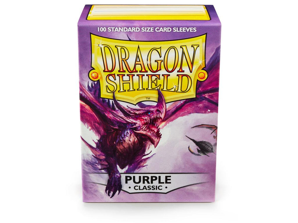 Dragon Shield Purple Classic– 100 Standard Size Card Sleeves: www.mightylancergames.co.uk