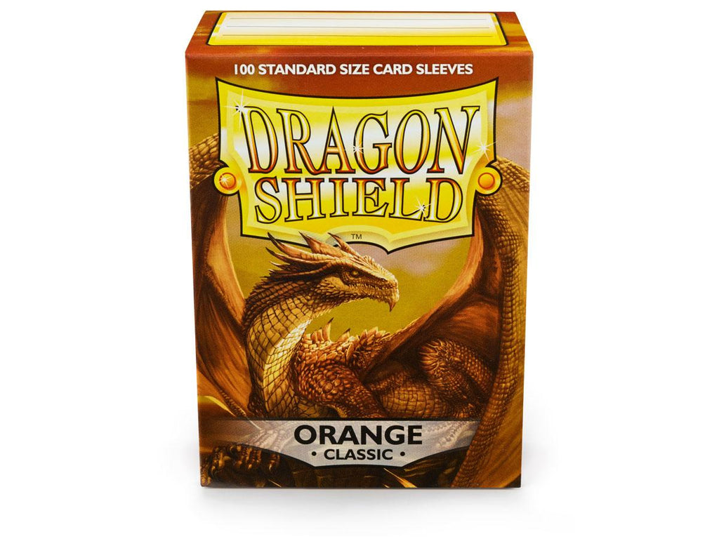 Dragon Shield Classic Orange – 100 Standard Size Card Sleeves. www.mightylancergames.co.uk
