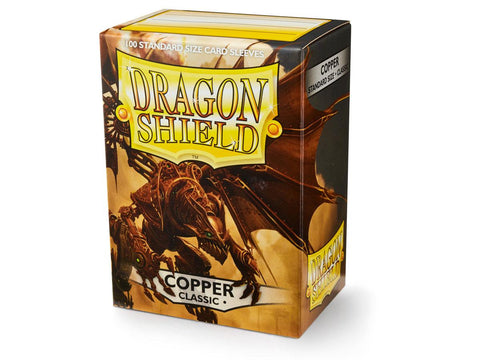 Dragon Shield Classic Copper – 100 Standard Size Card Sleeves: www.mightylancergames.co.uk