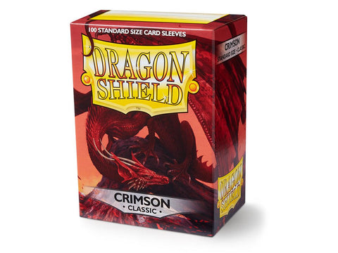 Dragon Shield Classic Crimson - 100 Standard Size Card Sleeves: www.mightylancergames.co.uk