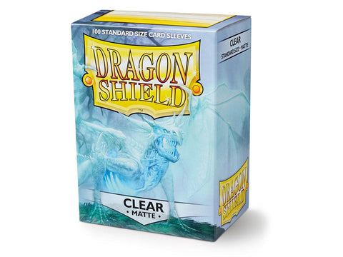 Dragon Shield Clear Matte– 100 Standard Size Card Sleeves