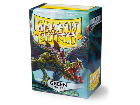 Dragon Shield Matte Green  – 100 Standard Size Card Sleeves: www.mightylancergames.co.uk